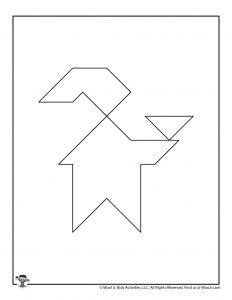 Elf on the Shelf Christmas Tangram Printable Puzzle