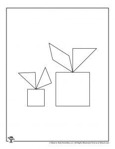 Christmas Presents Tangrams Logic Puzzles