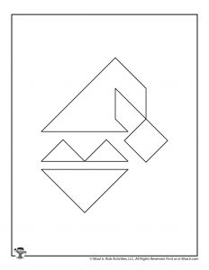 Santa Clause Christmas Tangram printable Puzzles