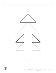 Christmas Tree Tangram Puzzle Activity for Kids