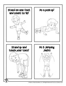 Physical Education Printable Coloring Page