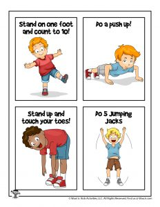 Get Your Body Moving Flashcards for Kids