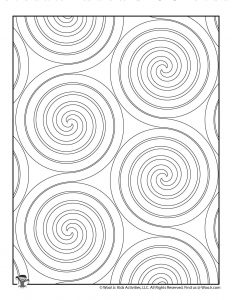 Spiral Pattern Coloring Page to Print