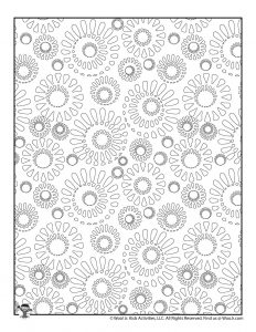 Stress Relieving Pattern Coloring Sheets