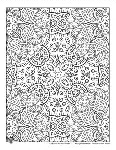 Complex Pattern Coloring Sheet