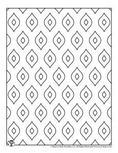 Free Mosaic Pattern Coloring Sheet