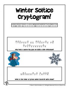 Kids Winter Word Puzzles