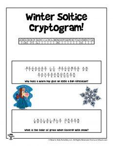 Encrypted Winter Riddle for Kids - KEY