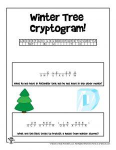 Winter Hidden Message Puzzle Game
