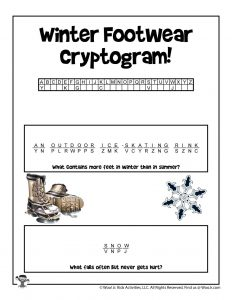 Winter Unlock the Code Puzzles - ANSWER KEY