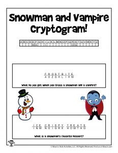 Winter Cryptogram Puzzle Game - KEY