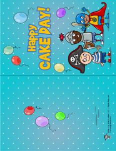 Free Printable Birthday Card for Boys