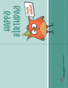 Happy Birthday Free Printable Card