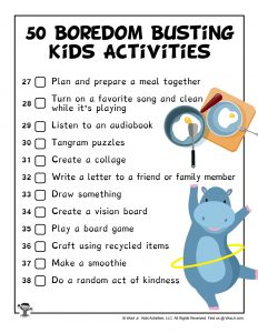 Kid Activity Ideas While You're Working