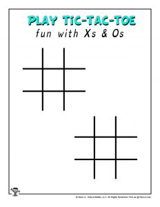 Play Tic Tac Toe Printable Game