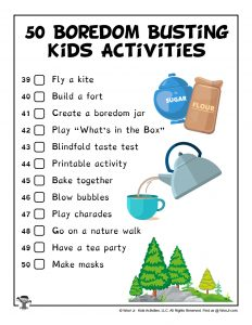 Boredom Busting Activities for Kids