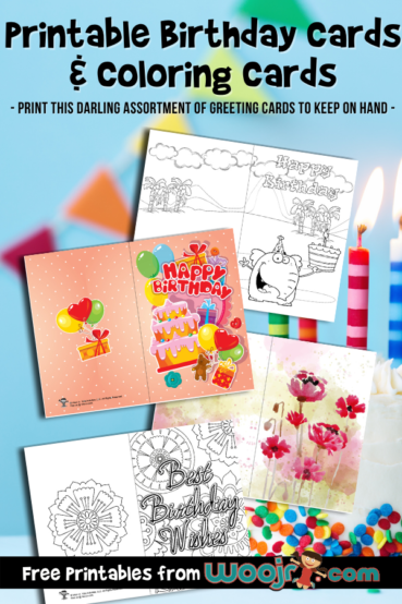 Printable Birthday Cards and Coloring Cards