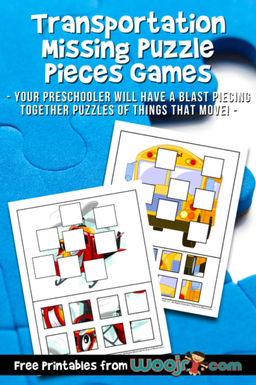 Transportation Missing Puzzle Pieces Games