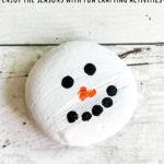 Rock Painting Winter Snowman Craft