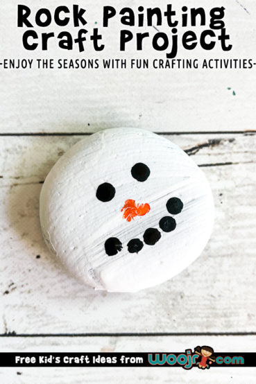 Rock Painting Winter Snowman Craft