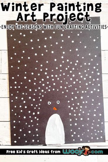 Winter Penguin Painting Project