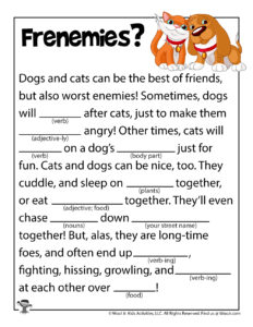 Cats and Dogs Ad Libs Printable