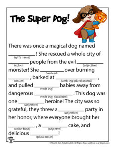 Dogs and Cats Adlibs Games for Kids