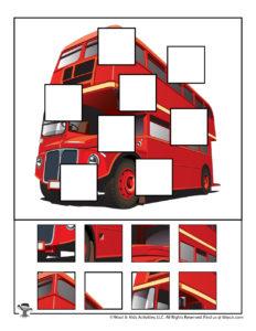 Double Decker Bus Transportation Puzzle Game