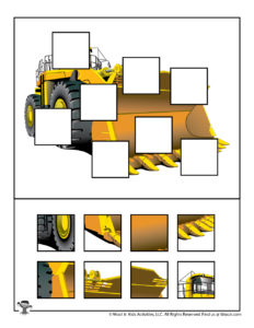 Earth Mover Printable Jigsaw Puzzle Activity for Kids