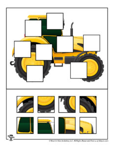 Tractor Find the Missing Puzzle Piece Game for Kids