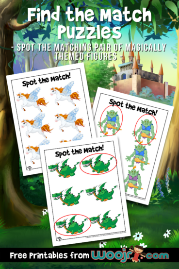 Printable Find the Match Puzzles