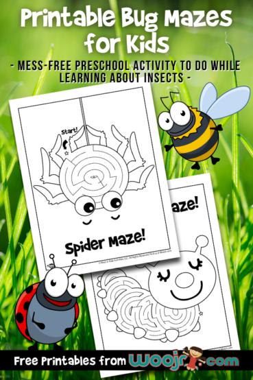 Printable Bug Mazes for Kids