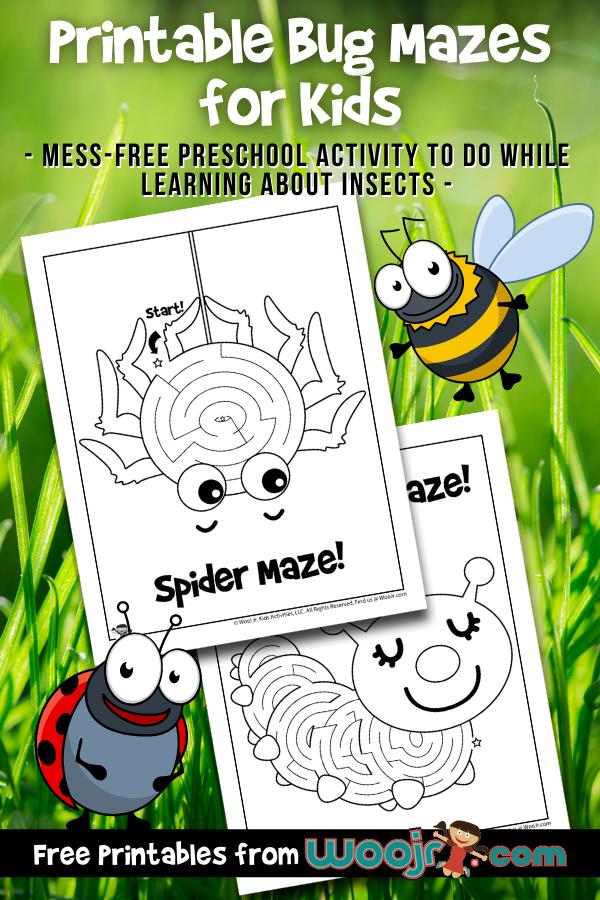 Printable Bug Mazes for Kids