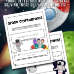 Space Cryptogram Word Puzzles
