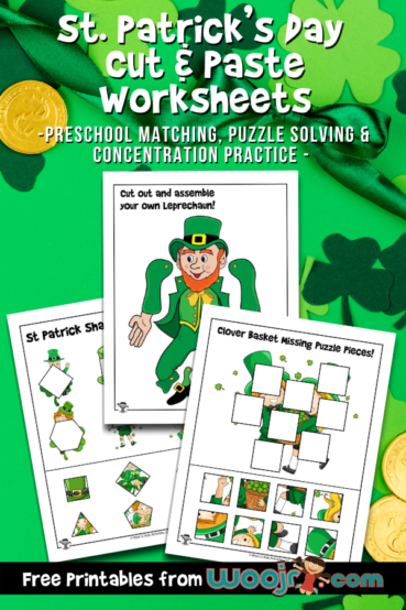 St. Patrick's Cut and Paste Worksheets