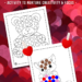 Valentine Dot Coloring Pages
