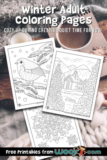 Winter Adult Coloring Pages