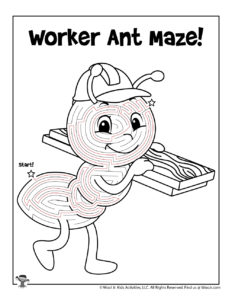 Cute Ant Bug Maze for Spring - ANSWER KEY