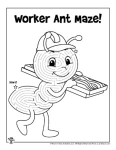 Cute Ant Bug Maze for Spring
