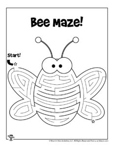 Bumble Bee Maze Puzzle Activity