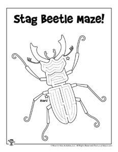 Printable Insect Maze Beetle