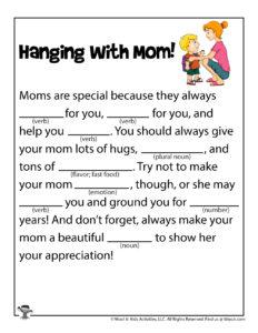 Mom Funny Fill in the Blanks