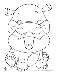Hungry Hippo Puppet Pattern for Kids
