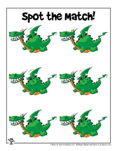 Dragon Spot the Difference Printable