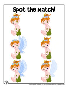 Fairy Find the Match Puzzles