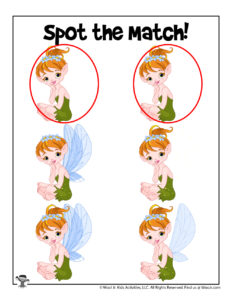 Fairy Matching Game Activity Page - KEY