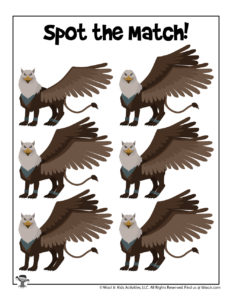 Griffon Find the Difference Printable
