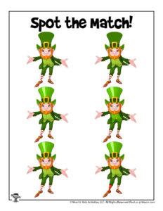 Leprechaun Printable Puzzle Game for Kids