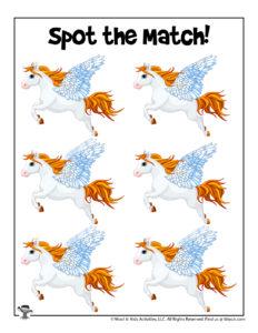 Pegasus Preschool Matching Game