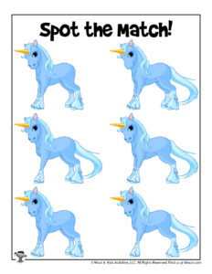 Unicorn Matching Game for Kids